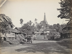 Road leading to Shoay Dagon Pagoda, Rangoon